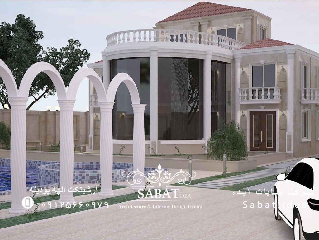 طراحی داخلی و خارجی ویلا