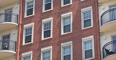 طراحی نمای آجری بیرونی ساختمان