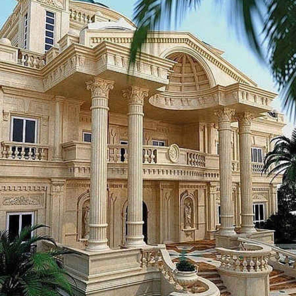 طراحی نمای رومی بیرونی ساختمان