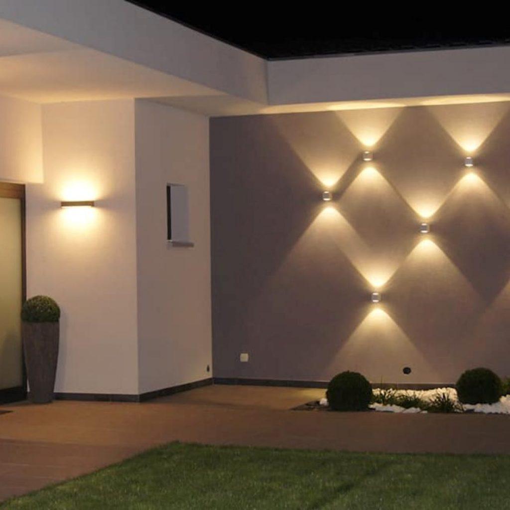 استفاده از دیوار شاخص با نورپردازی در دکوراسیون داخلی