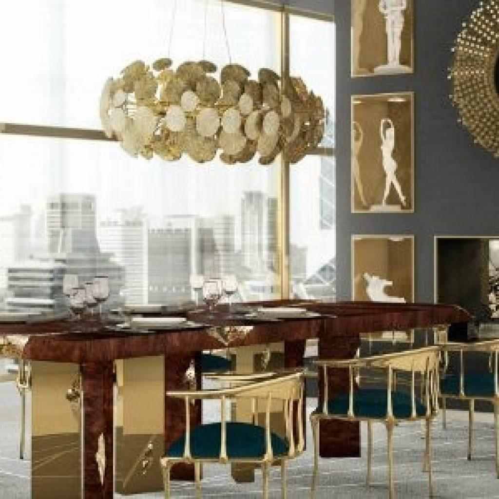 ترکیب رنگ طلایی و رنگ طوسی در دکوراسیون داخلی