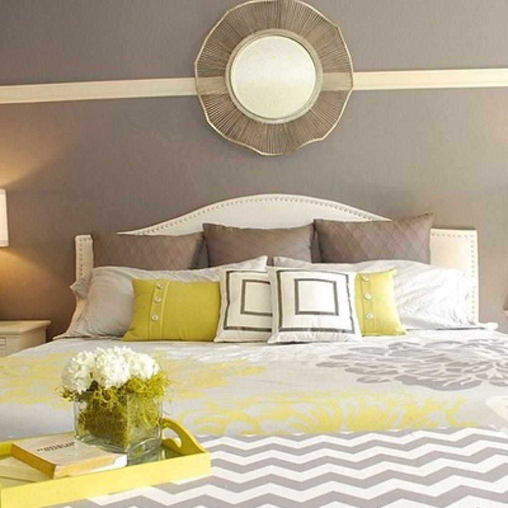 ترکیب رنگ زرد و رنگ طوسی در دکوراسیون داخلی