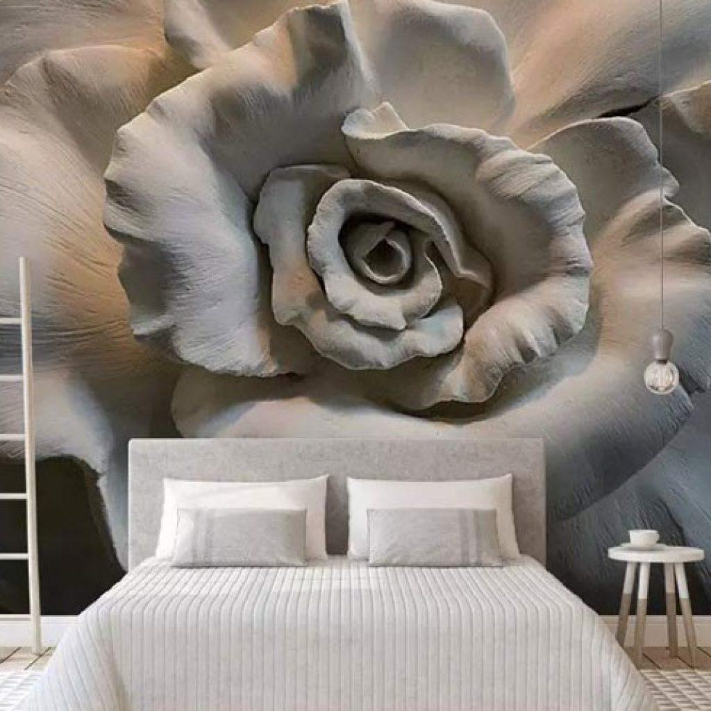 استفاده از کاغذ دیواری به عنوان دیوار شاخص در دکوراسیون داخلی